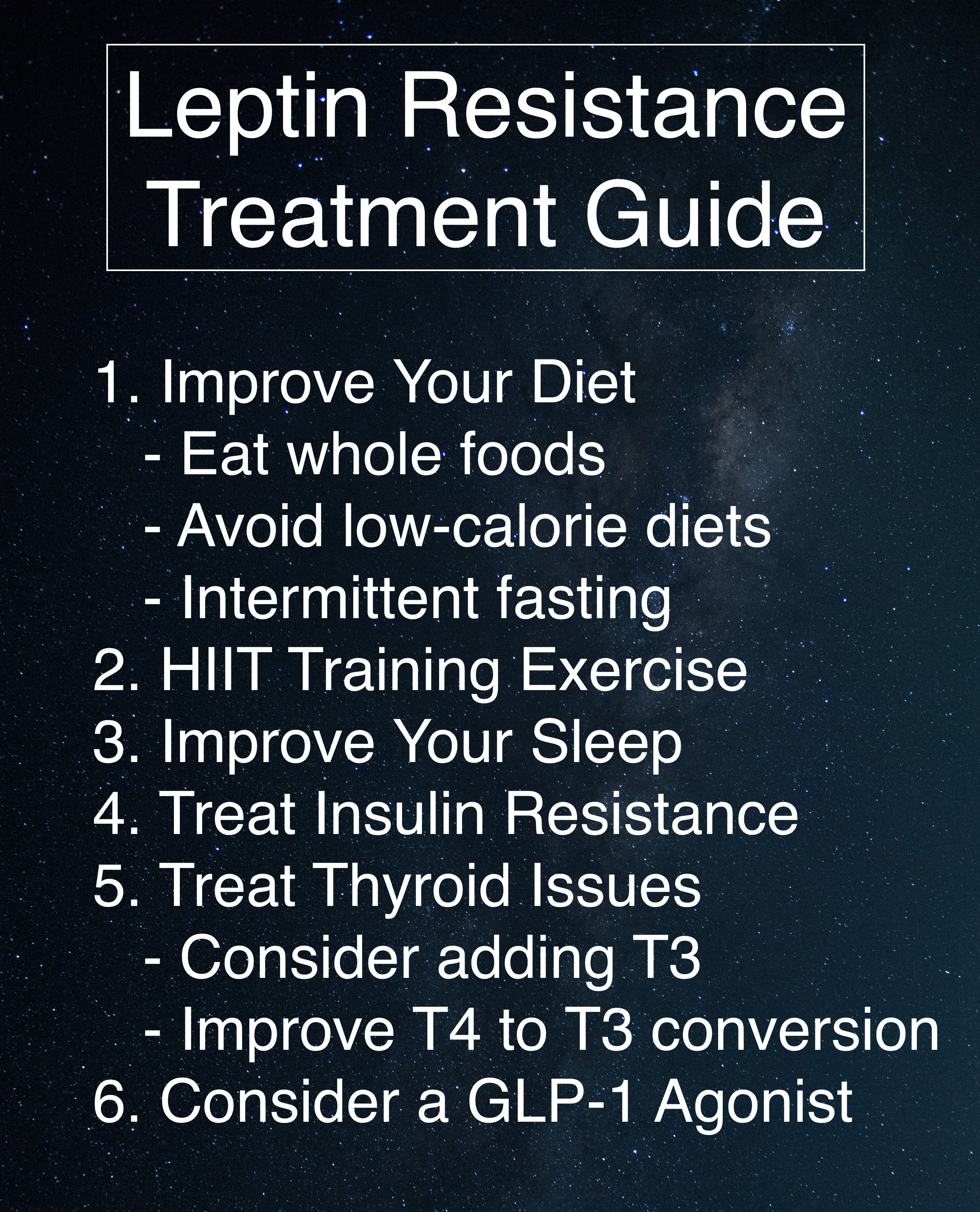 The 6 Step Leptin Resistance Treatment Guide - Dr  Jeff Whelchel